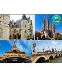 Barcelona - Avignon – Montpellier – Carcassone – Bordeaux – Paris Turu